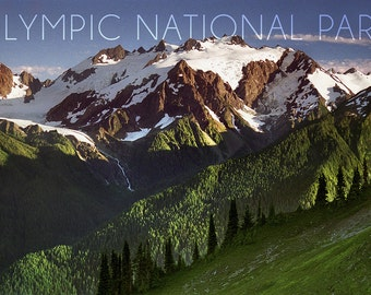 Olympic National Park, Washington - Mount Olympus (Art Prints available in multiple sizes)