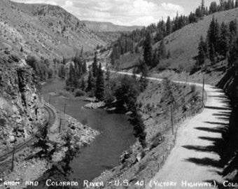 Colorado - Byers Canyon and Colorado River Photograph (Art Prints available in multiple sizes)
