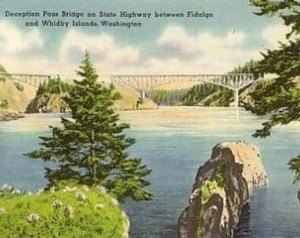 Deception Pass Bridge, Fidalgo and Whidbey Islands (Art Prints available in multiple sizes)