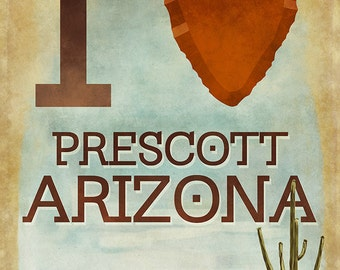 I heart Prescott Arizona (Art Prints available in multiple sizes)