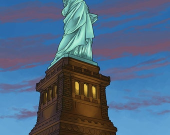 Statue of Liberty - New York City, NY (Art Prints available in multiple sizes)