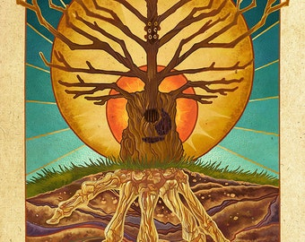 Guitar Tree (Art Prints available in multiple sizes)