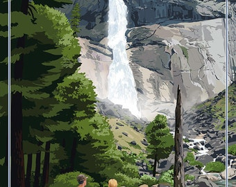 The Mist Trail - Yosemite National Park, California (Art Prints available in multiple sizes)