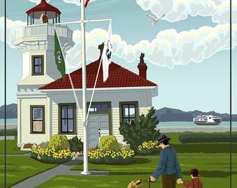 Mukilteo Lighthouse - Mukilteo, Washington (Art Prints available in multiple sizes)