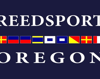 Reedsport, Oregon - Nautical Flags (Art Prints available in multiple sizes)