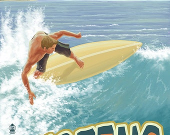 Surfing Hawaii (Art Prints available in multiple sizes)
