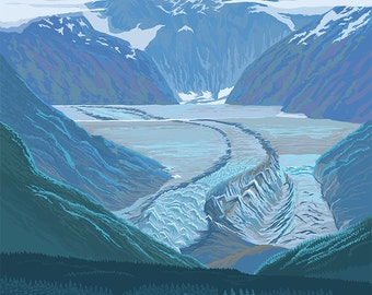 Glacier Scene - Ketchikan, Alaska (Art Prints available in multiple sizes)