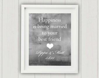 Personalised Wedding Print, Wedding Gift for Couple, Love Print, Personalized Wedding Gift, Unique Wedding Gift, Wedding Date Print, Wedding