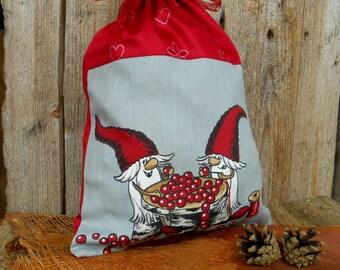 Christmas Gift Wrap Nordic Christmas Swedish Christmas Santa Sack Scandinavian Christmas Gift Bag Christmas Gift Sack Gnome Elf Tomte