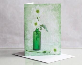 Photo greeting card, Chrysanthemum Photographic Greeting Card. Blank card. Photo card. Floral greeting card. Flower greeting card.
