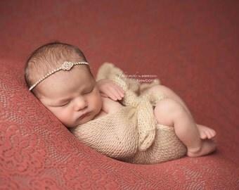 2 Yards Fabric Backdrop; Newborn Backdrop; Orange Red Floral Crochet Fabric; Newborn Photo Prop; Layering Fabric; Newborn Posing Fabric