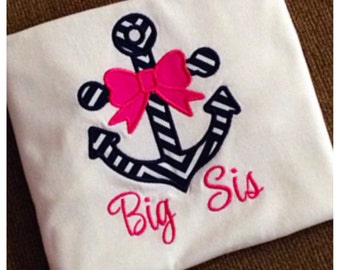 Girly anchor shirt, can be personalized how you'd like