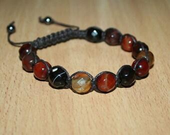 Shamballa faceted sardonyx bracelet.