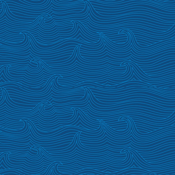 10 Quot Remnant True Blue Babbling Brook In Navy Geometric