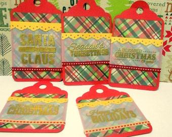 Set of 5 Christmas Tags