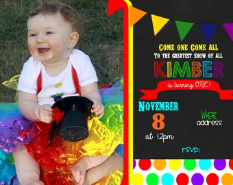 CIRCUS party  - Carnival Party Invitation