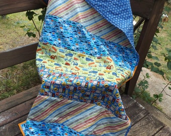 Construction quilt | Etsy : where to sell handmade quilts - Adamdwight.com