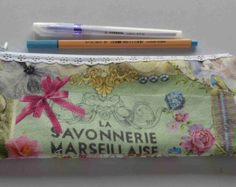 back to school/Pencil case/Make-up pouch/Fabric pouch, Small objects storage pouch, medications pouch, Pouch for travel/tissu pouch /pouch