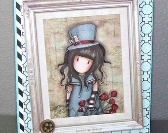 The Hatter Card... Blank Greeting Card...
