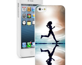 For Apple iPhone SE 4 4s 5 5s 5c 6 6s 7 Plus Hard Case Cover 473 Female Runner