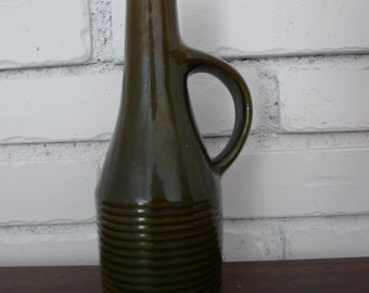 Mid Century Green Jiesia Decanter Vase from Lithuania