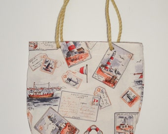 Summer sailor tote bag - free shipping to EU