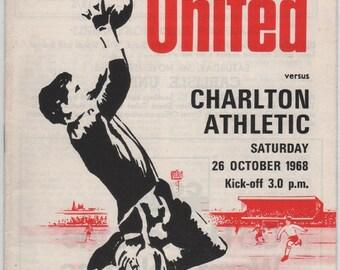 Vintage Football (soccer) Programme - Sheffield United v Charlton Athletic, 1968/69 season
