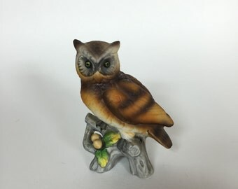 Vintage Decorative Ceramic Owl Figurine