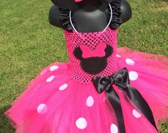 Minnie Mouse inspired tutu/ birthday/costume/dress/Halloween/dress up