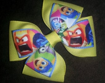Joy Sadness Anger Fear Disgust Inside Out Handmade Bow