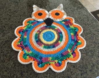 Owl Placemat Pattern/not a finished product - no refund