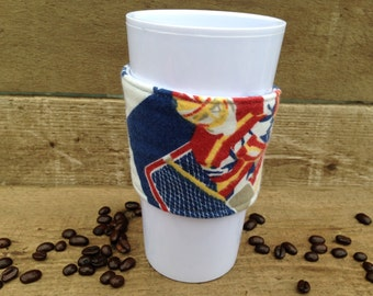 HOCKEY Coffee sleeve / coffee cozy / reusable / adjustable