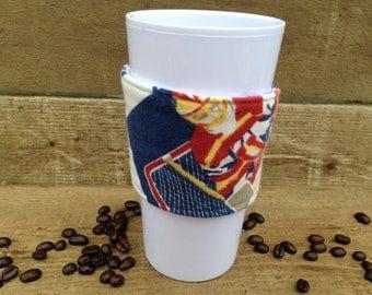 HOCKEY Coffee sleeve / coffee cozy /  reusable drink cozy / hockey coach gift