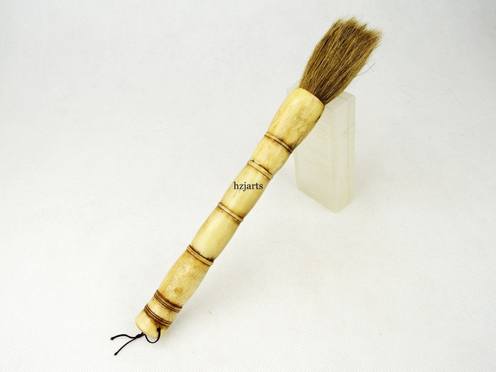 Chinese Artist Paint Calligraphy Brush Pen Bamboo Craft By