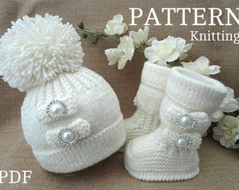Knitting P A T T E R N Baby Set Infant PATTERN Newborn Baby