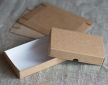 140 x 90 x 25 mm Kraft Cardboard Bwown Package Box in the BLANKS (10 Pcs/Lot) for BowTies, Jewellery, Candy, Gift, DIY, Soap, Socks,