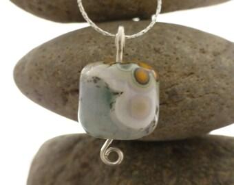 Ocean Jasper Pendant and Chain