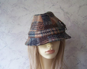 Beautiful Authentic Vintage Wool Mix Trilby Hat