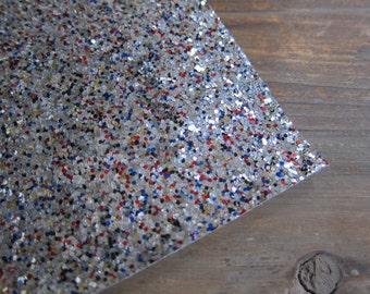 Glitter Material Patriotic Mix 8X10 sheet