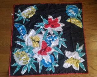 Bright fruit-print scarf