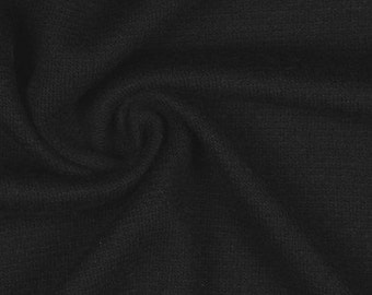 Heavy Black Wool Fabric