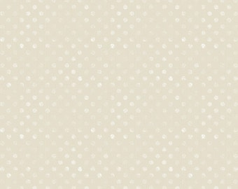 Wilmington Prints - Dot Ivory - Words To Live By - Cotton Woven Fabric