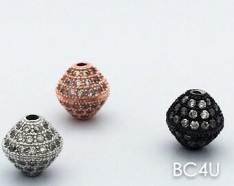 10mm,Micro Pave Diamond shaped Shamballa Ball beads,Micro Pave CZ Cubic Zirconia Findings