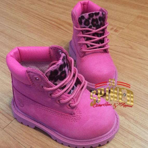 toddler timberland boots pink