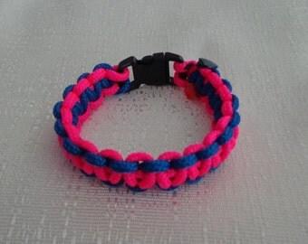 Pink and Blue Macrame Bracelet, Friendship Bracelet