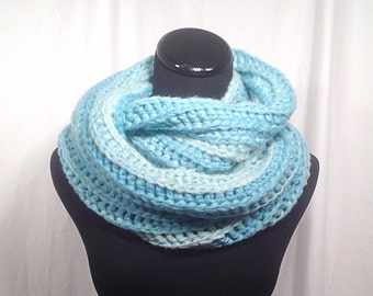 Sea Foam Sparkle Infinity Crochet Scarf