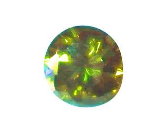 8mm round, tourmaline green, CZ
