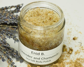 4 oz. Chamomile and Lavender Sea Salt Body Polish-Scrub