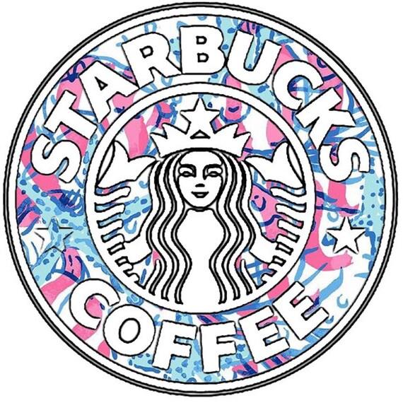 Lilly Pulitzer Vinyl Starbucks Sticker By Thelittlebluebow88