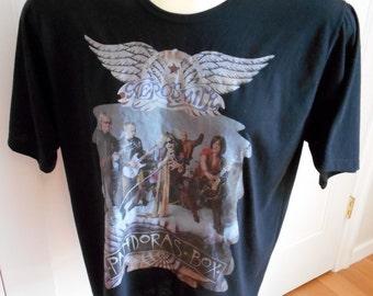 Vintage 1991 Steven Tyler Aerosmith Pandoras Box T Shirt - Black - Rare!